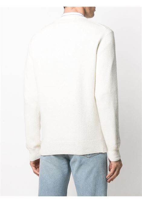 White wool and cashmere intarsia knit jumper featuring blue Après Ski print MC2 |  | HERON-APRES SKI10
