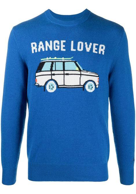 Maglia blu in lana e cashmere Range Lover con maniche lunghe MC2   Maglieria   HERON-CAR LOVER17