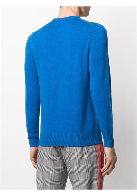 Blue wool and cashmere  Range Lover knitted jumper featuring long sleeves MC2 |  | HERON-CAR LOVER17