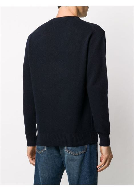 Blue long sleeve jumper with Cortina vs Courma white lettering MC2 |  | HERON-CORTINA COURMA61