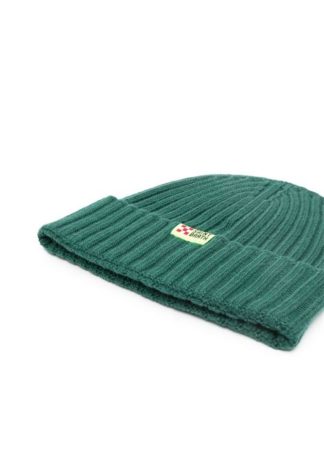 Green cashmere and wool ribbed knit beanie hat  MC2      WENGEN-BOMBARDINO51