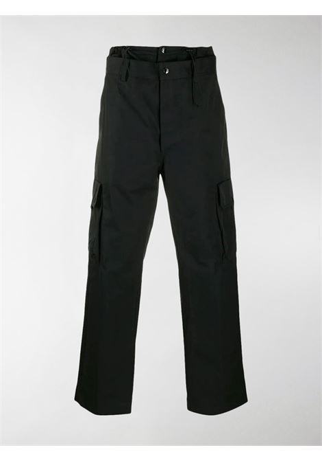 Pantaloni cargo neri in misto cotone con chiusura frontale nascosta MONCLER GENIUS | Pantaloni | 2A702-00-V0135999