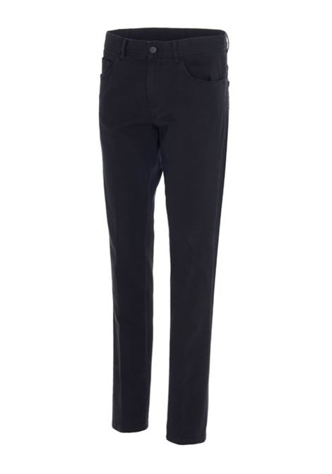 Pantaloni neri a gamba dritta in misto cotone MONCLER GENIUS | Pantaloni | 2A718-60-54AT7999