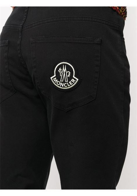 Black cotton-blend logo patch straight-leg trousers featuring Moncler Grenoble logo patch to the rear MONCLER GENIUS |  | 2A718-60-54AT7999