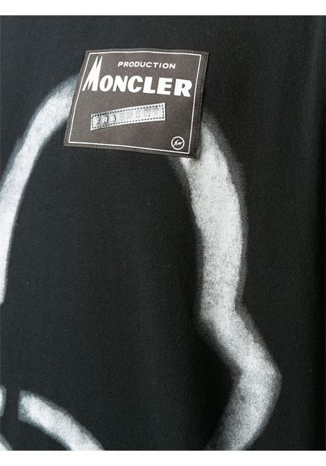 black cotton Moncler Genius x Fragment Design white graffiti print t.shirt MONCLER GENIUS |  | 8C707-10-8392B999