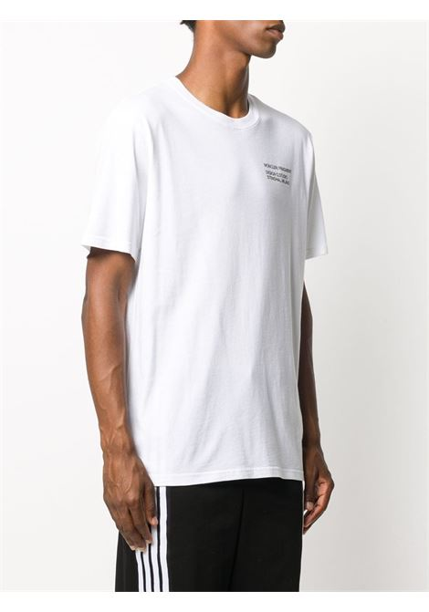 white cotton short sleeve t.shirt with multi Moncler x Fragment Design logo MONCLER GENIUS |  | 8C708-10-8392B001
