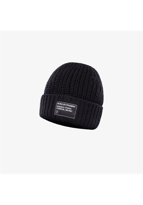 ribbed english wool black hat with 7 moncler genius x fragment hiroshi fujiwara front patch MONCLER GENIUS |  | 9Z701-00-A9488999