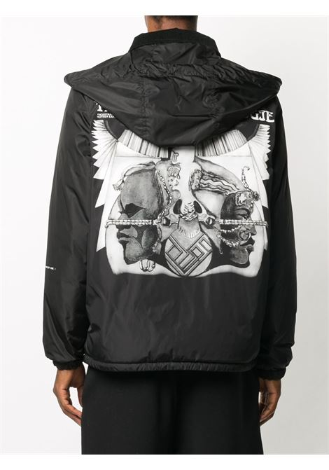 Kurn black jacket with side pockets and back logo print  MONCLER GENIUS |  | KURN 1B520-10-53A10999