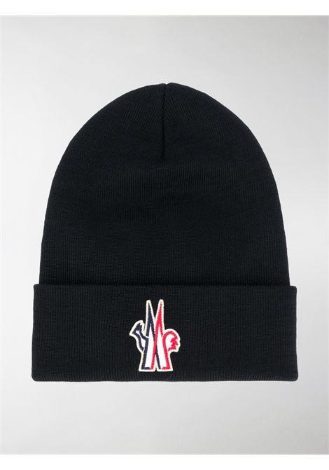 berretto di lana merino nero con logo Moncler Grenoble MONCLER GRENOBLE | Cappelli | 3B100-00-09974999
