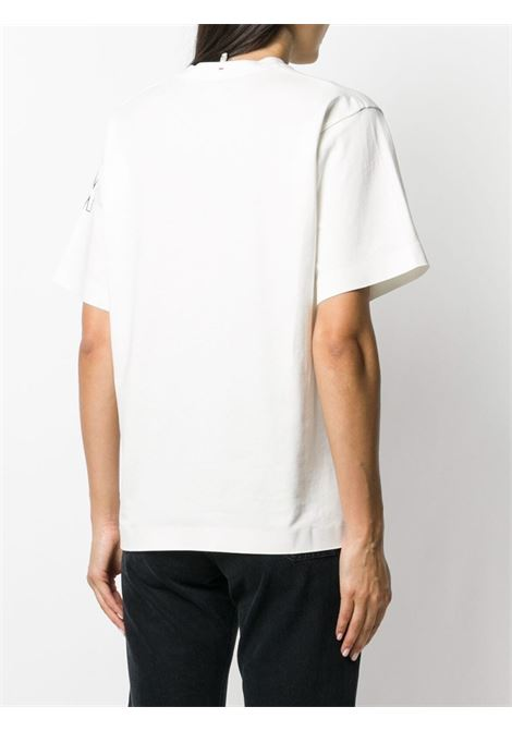 Natural white cotton crew-neck T-Shirt  featuring black Moncler logo  MONCLER GRENOBLE |  | 8C701-10-8390T034