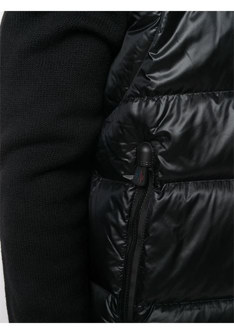Black wool-blend quilted panel high-neck jacket  featuring front zip fastening MONCLER GRENOBLE |  | 9B505-00-94778999