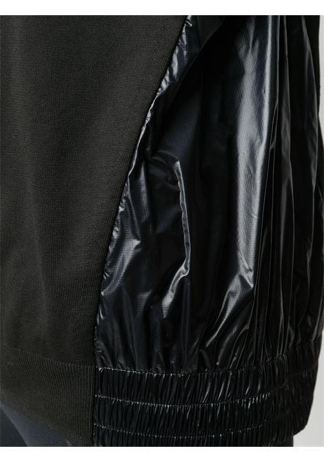 Black vinyl-style panelled sweatshirt  MONCLER GRENOBLE |  | 9C709-00-C9033999