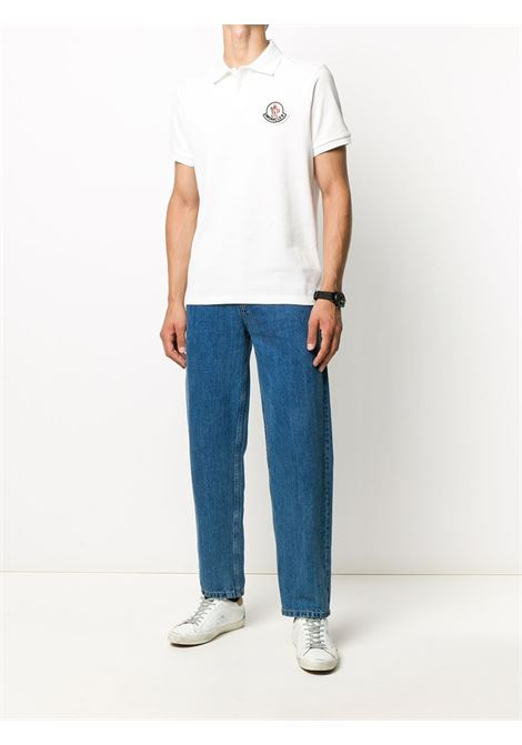 white piquet cotton polo shirt with front Moncler rubber patch MONCLER |  | 8A711-00-84556004
