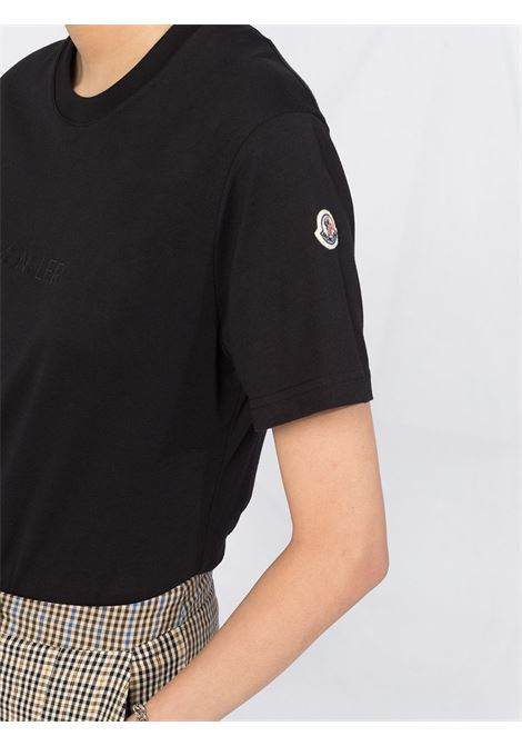 short sleeved black cotton t.shrit with side Moncler patch MONCLER |  | 8C765-10-V8161999