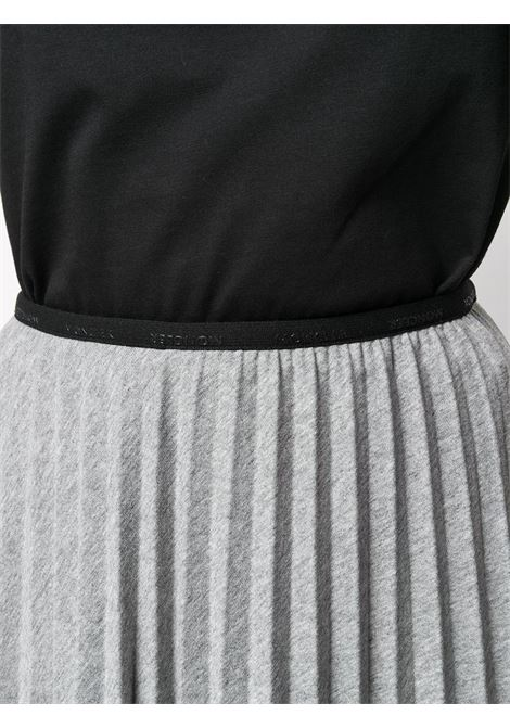 grey cotton-blend pleated midi skirt MONCLER |  | 8H718-10-V8167915