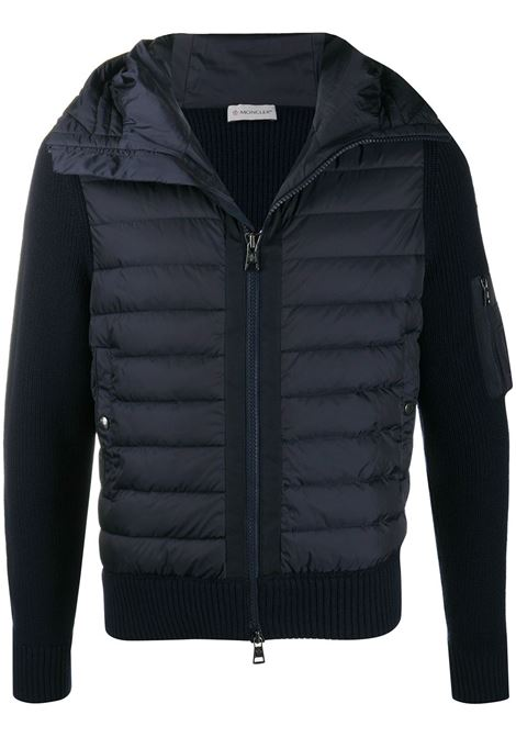 woll navy blue and nylon padded jacket MONCLER |  | 9B508-00-A9340777