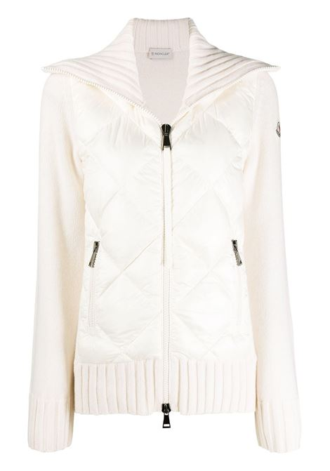 white virgin wool and feather down knitted jacket MONCLER |  | 9B516-00-A9197034