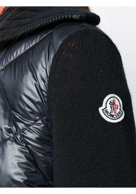 black virgin wool padded knitted jacket MONCLER |  | 9B516-00-A9197999