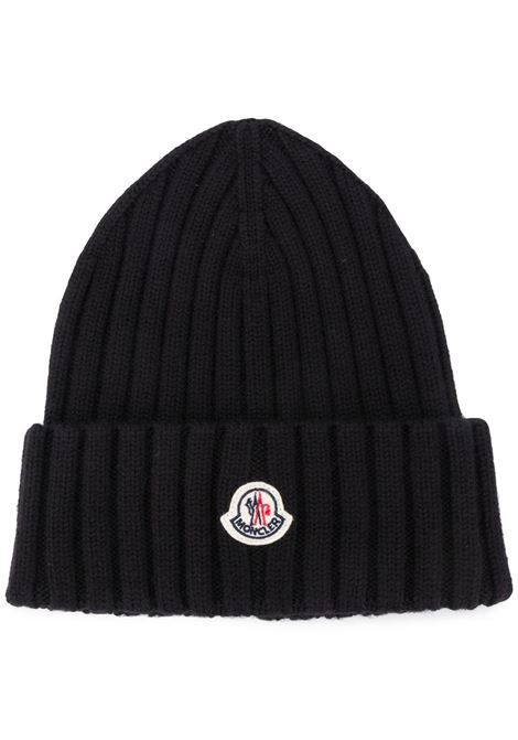 dark blue virgin wool ribbed beanie MONCLER |  | 9Z708-00-A9327999
