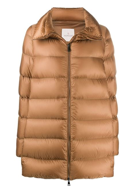 Anges long camel colored down jacket in feather padded nylon MONCLER |  | ANGES 1C203-00-C0229226