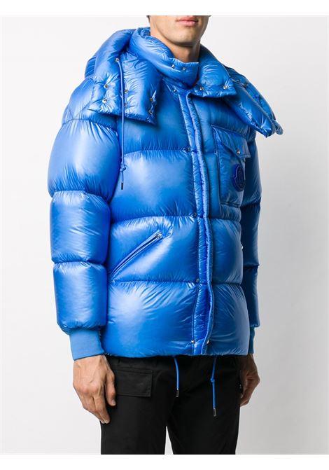 Piumino in nylon imbottito di piuma d'oca Lamentin color azzurro con cappuccio staccabile MONCLER | Piumini | LAMENTIN 1B583-00-539WF71E