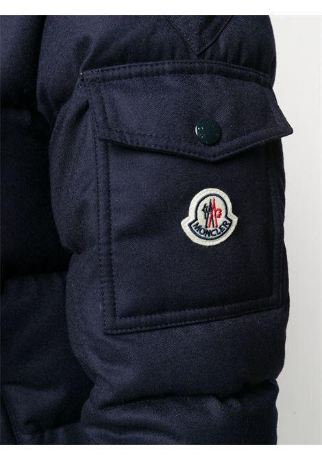 piumino con zip Montgenevre imbottito in piuma d'oca blu navy MONCLER | Piumini | MONTGENEVRE 1A537-00-54272742
