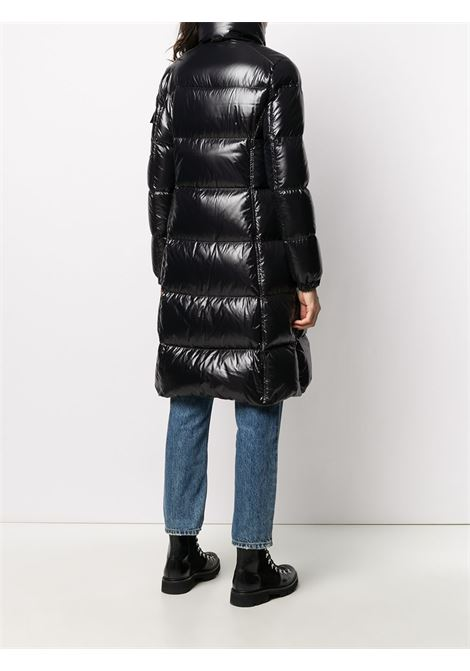 Black feather down patent finish Moyadons long puffer jacket  MONCLER |  | MOYADONS 1C568-00-C0064999