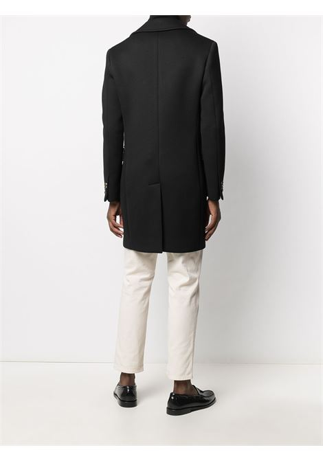 Black double-breasted mid-length coat featuring notched lapels Manuel Ritz |  | 2932C4438MY-20373699