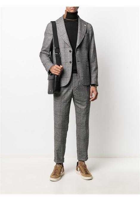 Blazer in misto lana vergine bianco e nero con motivo a quadri Principe di Galles Manuel Ritz | Giacche | 2932G2748-20356497