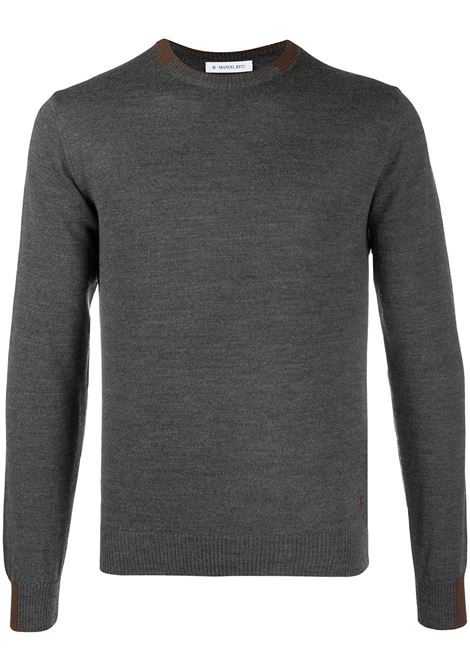 Grey and brown wool blend jumper featuring two-tone detail Manuel Ritz |  | 2932M500-20382597