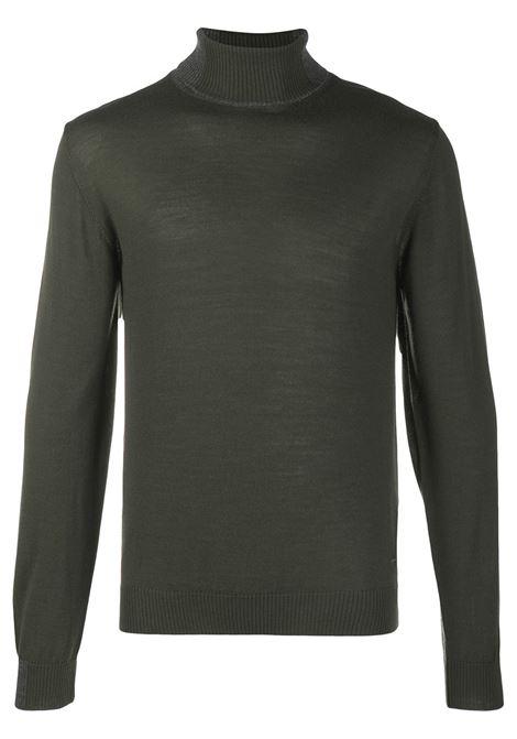 Maglione verde a collo alto in misto lana con bordo in maglia a costine Manuel Ritz | Maglieria | 2932M503-20382537