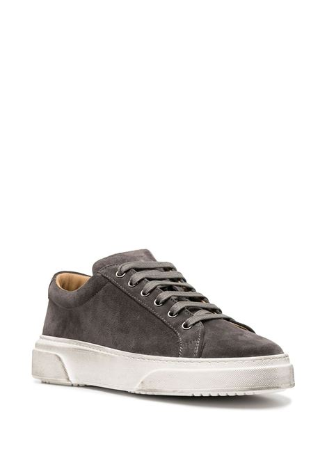 Grey suede, leather and white rubber low-top sneakers featuring Manuel Ritz logo patch  Manuel Ritz |  | 2932Q513-20388597