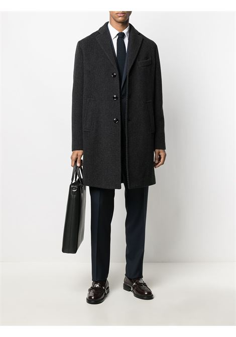 Black wool-blend single-breasted wool overcoat   PALTO' |  | AGOSTINO20W-ASTRO205