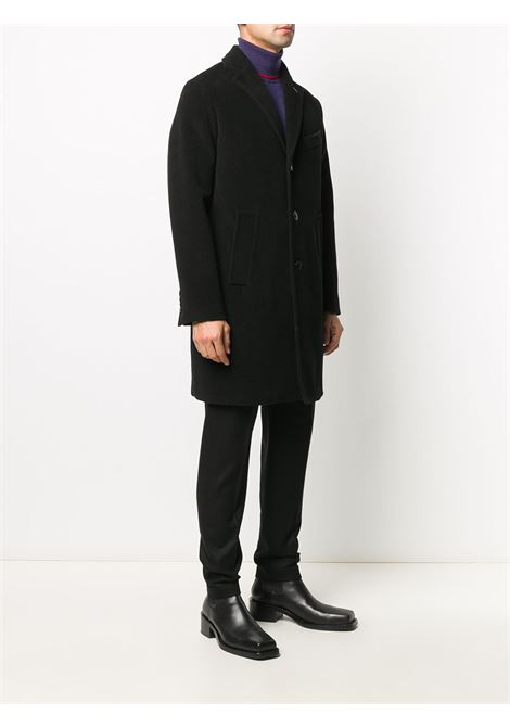 Black cotton and wool blend single-breasted short coat  PALTO' |  | AGOSTINO20W-CHEVRONWNERO