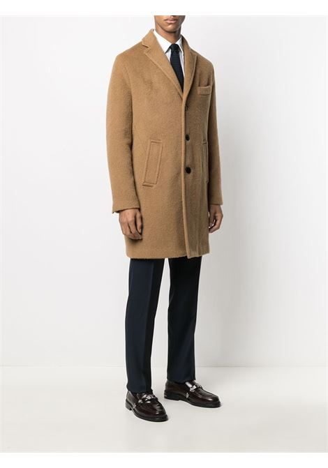 Brown mohair wool single-breasted coat PALTO' |  | AGOSTINO20W-MANIAC972