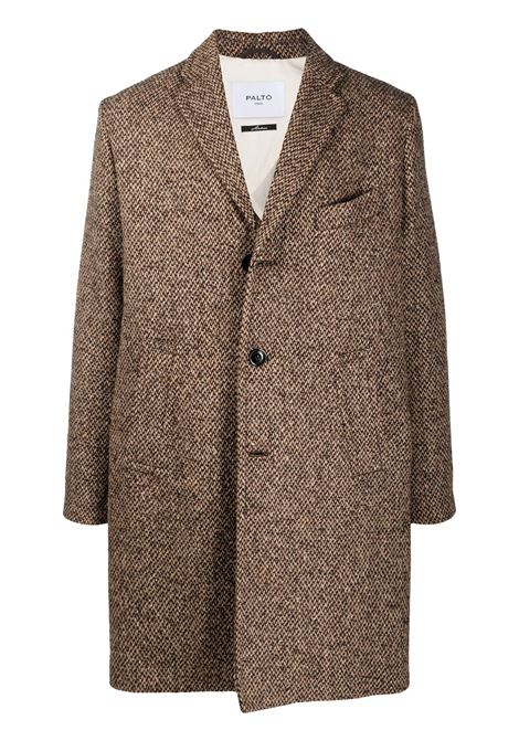 Brown Agostino single-breasted coat  PALTO' |  | AGOSTINO20W-PUAGORICC958