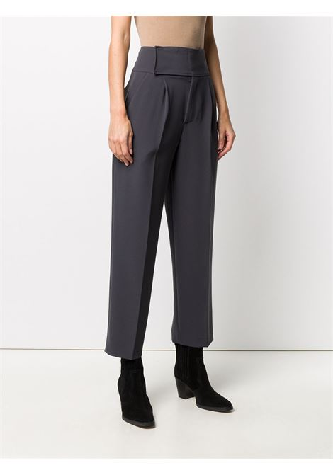 Dark grey polyester-blend cropped pleated trousers P.A.R.O.S.H. |  | D231030-PIRATES020
