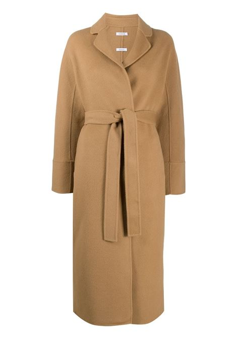 Brown wool midi coat featuring textured finish P.A.R.O.S.H. |  | D430765-LEAK006