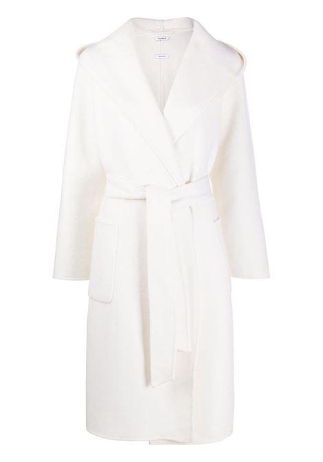 White wool Leak midi coat featuring shawl lapels P.A.R.O.S.H. |  | D430773-LEAK002