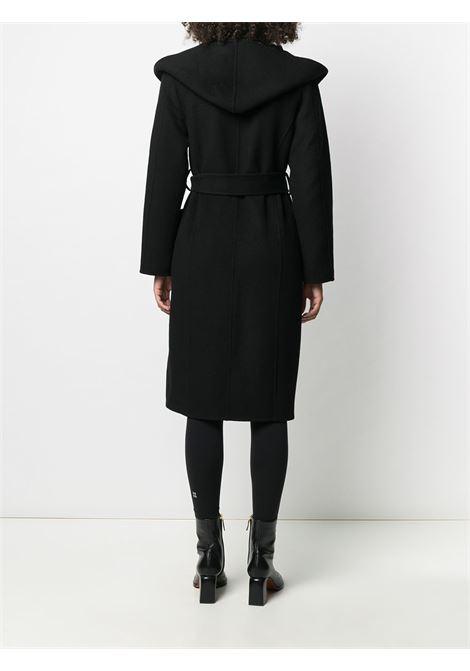 Black wool Leak midi coat featuring shawl lapels P.A.R.O.S.H. |  | D430773-LEAK013