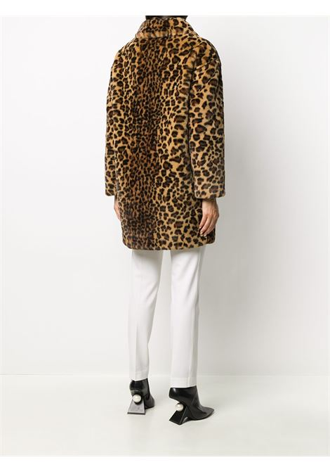 Brown leopard-print single breasted coat   P.A.R.O.S.H. |  | D430824-PRIZE808