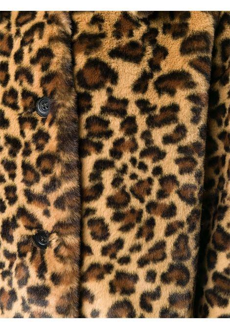 Cappotto monopetto marrone con stampa leopardata P.A.R.O.S.H. | Cappotti | D430824-PRIZE808
