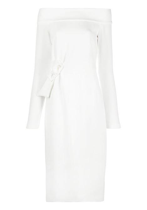 White polyester-blend bow-detail midi dress  P.A.R.O.S.H. |  | D723437-PROTONE002