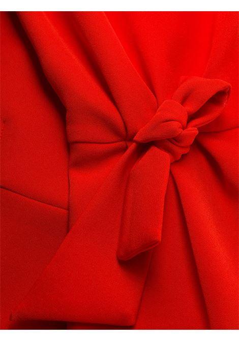 Abito rosso aderente con spalle scoperte con chiusura laterale con lacci P.A.R.O.S.H. | Abiti | D723437-PROTONE019