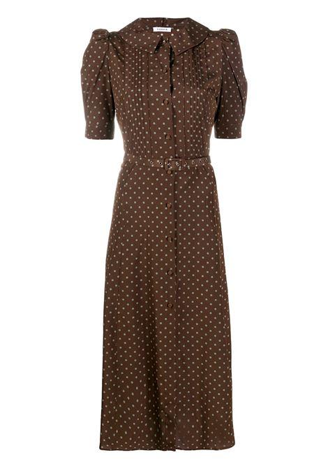 Dark brown polyester-blend polka dot-print midi dress P.A.R.O.S.H. |  | D724016-SIPOIS808