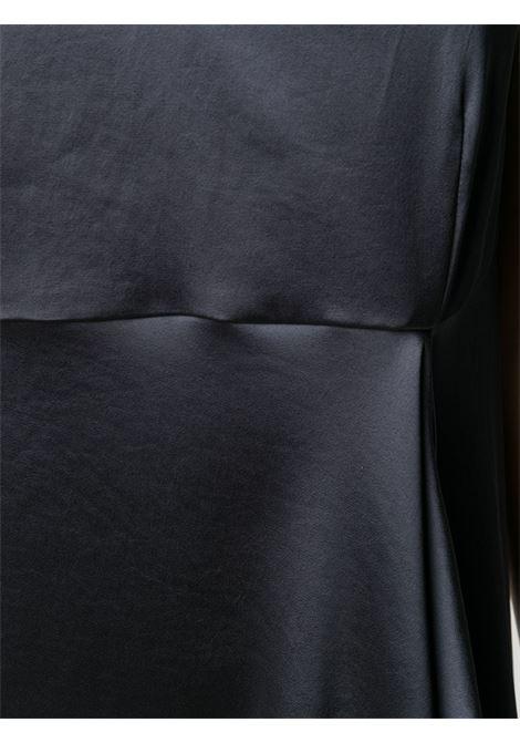 Abito drappeggiato grigio scuro con scollo a V P.A.R.O.S.H. | Abiti | D724018-PRIVAT020