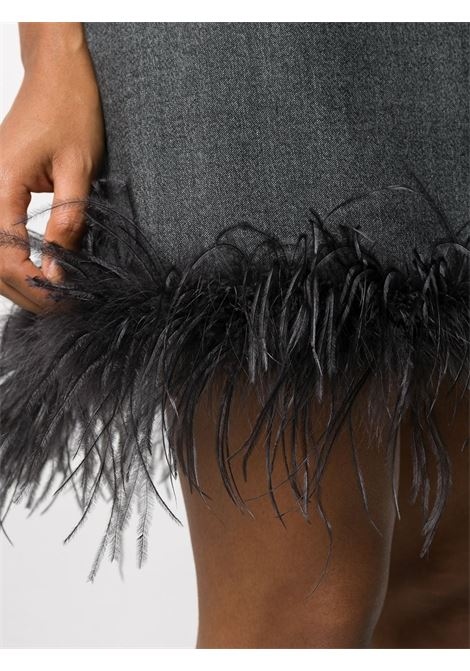 Grey wool hem dress featuring feather detailing P.A.R.O.S.H. |  | D731167P-PLANE020