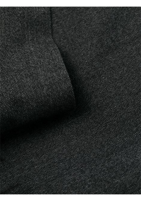 Abito grigio con orlo in lana con dettagli in piume P.A.R.O.S.H. | Abiti | D731167P-PLANE020