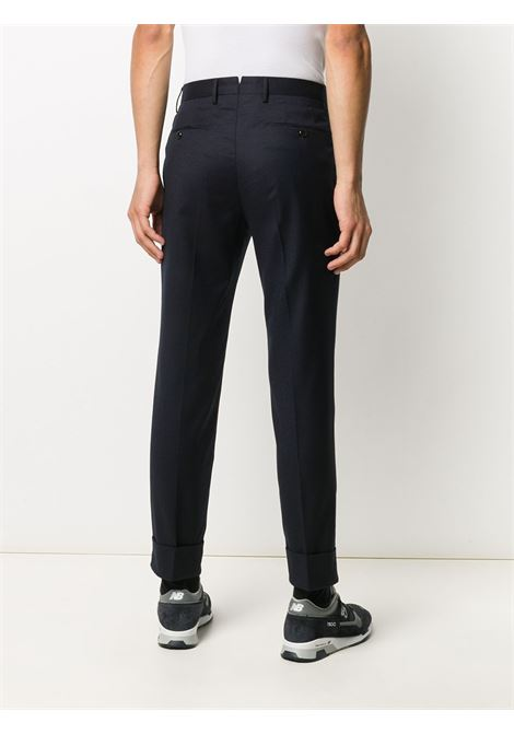 Navy blue virgin wool blend pleat-detail trousers  PT01 |  | COAFFKZ00CL1-CM130360