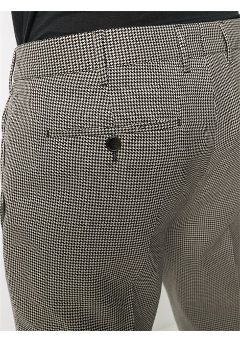 Black and white virgin wool houndstooth skinny-fit trousers PT01 |  | COAFX0Z00FWD-MR350990